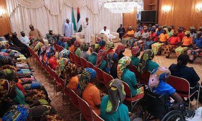 Freed-Chibok-Girls-meets-President-Buhari
