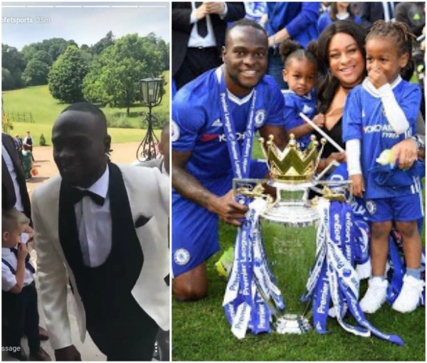 Image result for footballer Victor Moses weds long time girlfriend in London