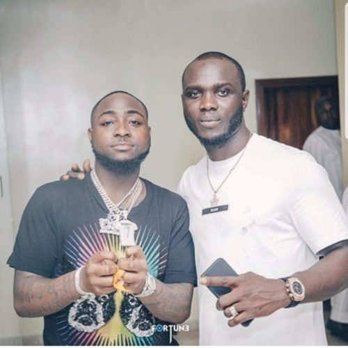 Davido and one of his 30 Billion gang members, Obama, had a heated argument today at the singer's house in Lekki and all hell was let loose.
