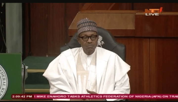 Budget Presentation: Buhari Reveals Why He Is suffering From cold Because Of Nigeria