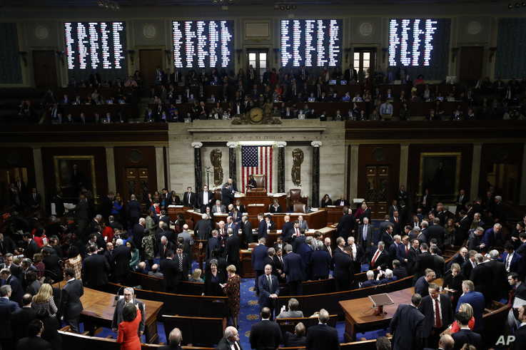 U.S. President Donald Trump has been impeached by the House of Representatives.