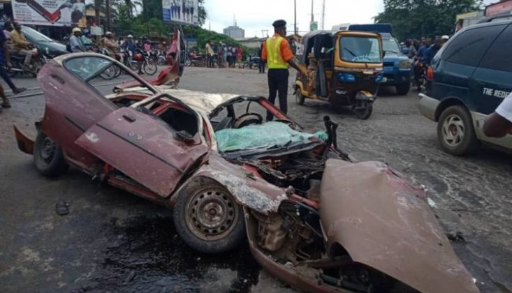 Ice Cream Truck Crushes Micra,Motorcycle,kills four People In Ibadan[Photos]
