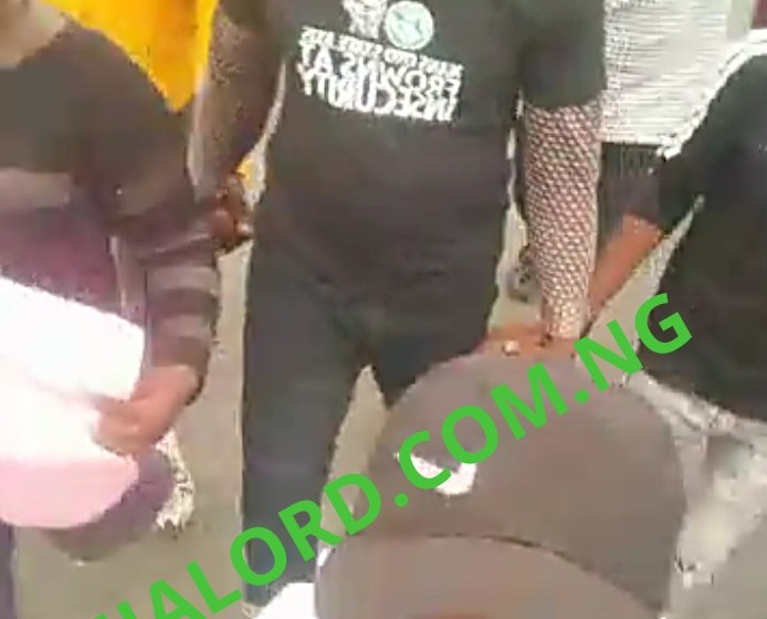 Oyo state Association of Nigerian Student Protest over the escape of Murder Suspect of Students,Demand Justice(Photos And Videos)