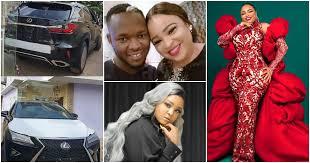 Okiki Afolayan Celebrates Wife with brand new car.[Photos]