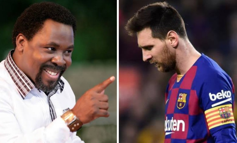 Nigerian Pastor T.B Joshua Advice Messi on New Transfer Deal.