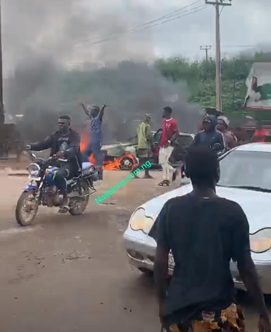 Chaos in Iwo Road road,Ibadan,How it happened.[Photos]