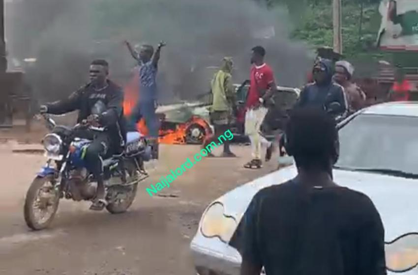 Chaos in Iwo Road road,Ibadan,How it happened.[Photos]