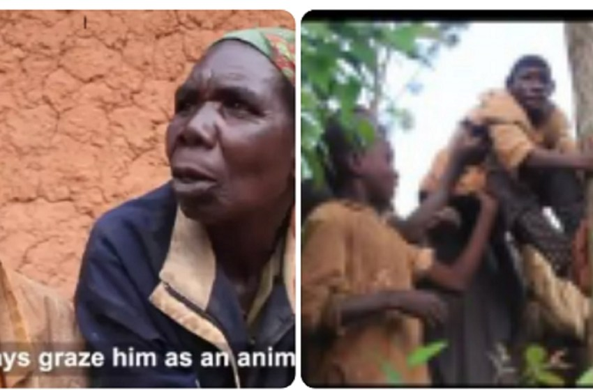 Meet 21 Years Old Boy Who Can't Speak, Eats Grass And Likes Playing In The Jungle (Video+Photo)