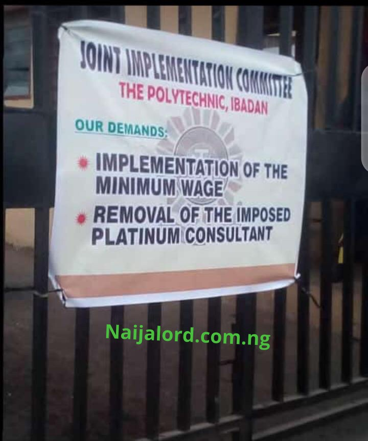 NASU Shutdown Poly Ibadan Exit and Entries,Postpone Exams and Begins Indefinite Strike. (Photos)