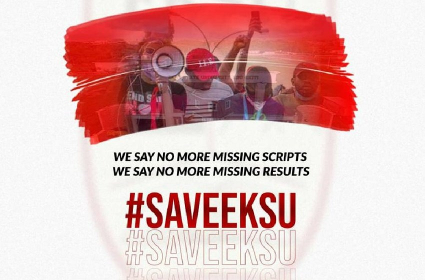 EKSU Students Protest online over Missing Script and Mass Failure.