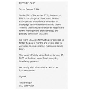 Teebillz Reacts as Tacha Ends Her Managerial Relationship With Him