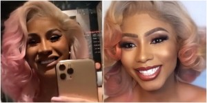 BBNaija Mercy Eke brags excitedly as Cardi B compliments their lookalike photo on Twitter.