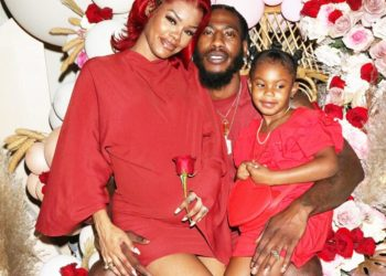Teyana Taylor and her Husband and her daughter