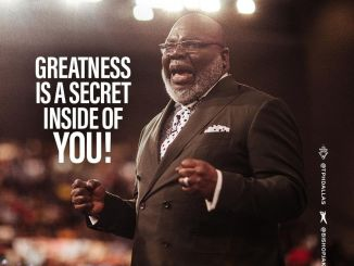 Bishop T.D Jakes Word Today 18th May