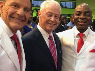 David Oyedepo Spotted With Kenneth Copeland and Jerry Savelle