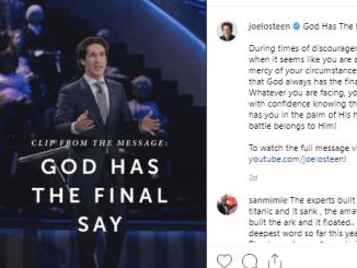 Joel Osteen Devotional 10 June 2019