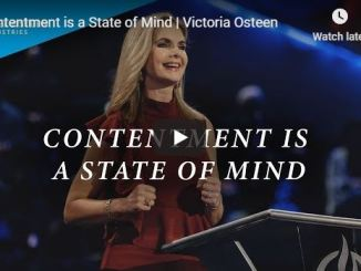 Victoria Osteen Message - Contentment