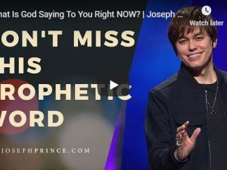 Joseph Prince Sermon - What Is God Saying To You Right NOW