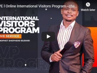 Online International Visitors Program Prophet Shepherd Bushiri