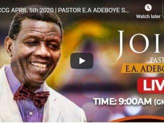 Pastor Adeboye Sunday Live Service Online With RCCG