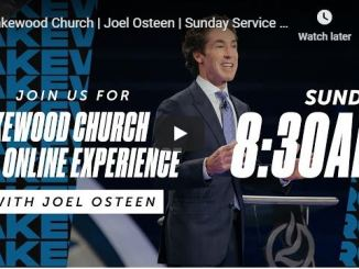 Joel Osteen Sunday Live Service April 26 in Lakewood