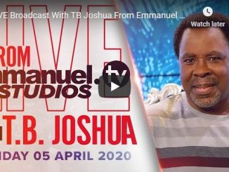 TB Joshua Live Broadcast and Sunday Service