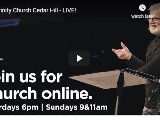 Trinity Church Cedar Hill Sunday Service May 31 2020