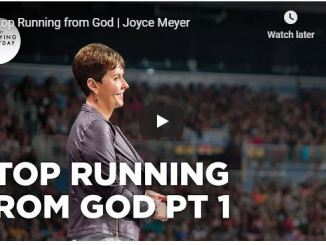 Joyce Meyer Message - Stop Running from God - June 17 2020