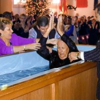A Rare Picture Of Joyce Meyer's Father Getting Baptized