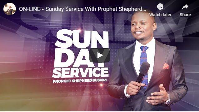 Shepherd Bushiri Sunday Live Service June 28 2020 In ECG