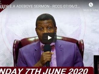 RCCG Sunday Live Service June 7 2020