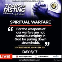 Day 6 of 7 Days Fasting With Alph Lukau – July 6 2020 – Alleluia Ministries