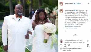 Bishop TD Jakes Pictured With His Daughter Cora On Her Wedding Day