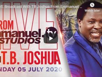 Prophet TB Joshua Sunday Live Service July 5 2020