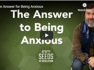 Rabbi Schneider Sermon - The Answer for Being Anxious - July 10 2020