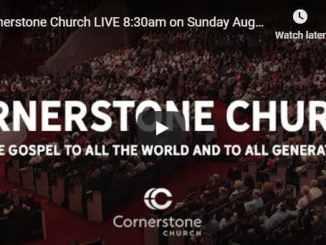 Cornerstone Church Sunday Live Service August 9 2020