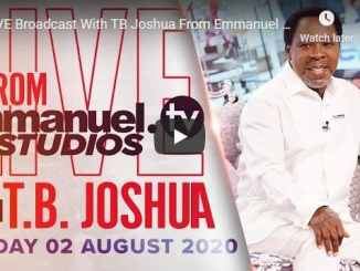 Prophet TB Joshua Sunday Live Service August 2 2020 In SCOAN