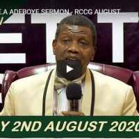 RCCG Sunday Live Service August 2 2020 With Pastor Adeboye