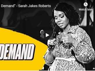 Sarah Jakes Roberts Sermon - In Demand - August 11 2020