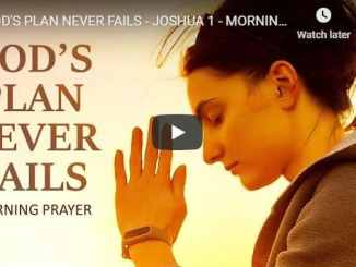 Sean Pinder - God's Plan Never Fails - Morning Prayer August 5