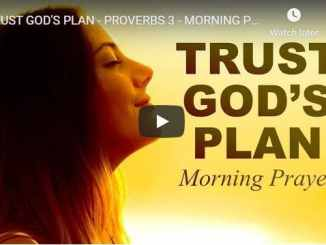 Sean Pinder Sermon - Trust God's Plan - Morning Prayer