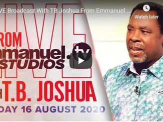 TB Joshua Sunday Live Service August 16 2020 In SCOAN