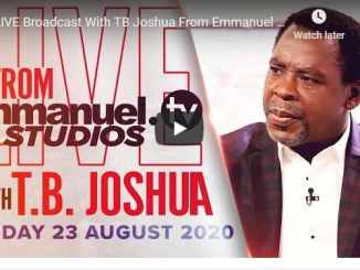 TB Joshua Sunday Live Service August 23 2020