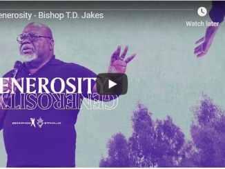 Bishop TD Jakes - Generosity - September 10 2020