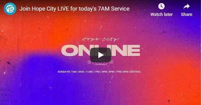 Hope City Church Sunday Live Service September 13 2020