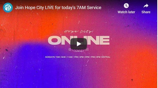Hope City Church Sunday Live Service September 6 2020