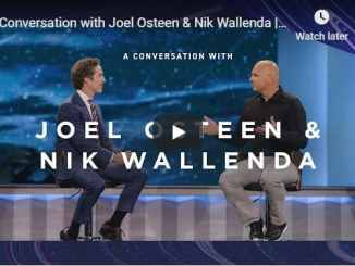 Joel Osteen & Nik Wallenda Live At Lakewood Church