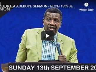 RCCG Sunday Live Service September 13 2020
