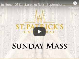 Saint Patrick's Cathedral NYC Sunday Mass September 27 2020