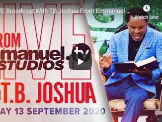 TB Joshua Sunday Live Service September 13 2020